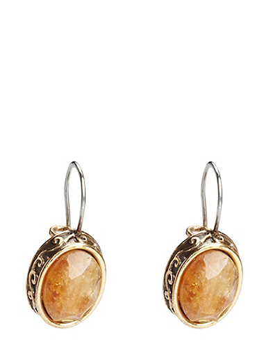 Small Citrine Drop Earrings