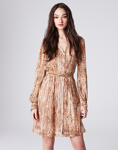 Snake Eyes Chiffon Shirt Dress*