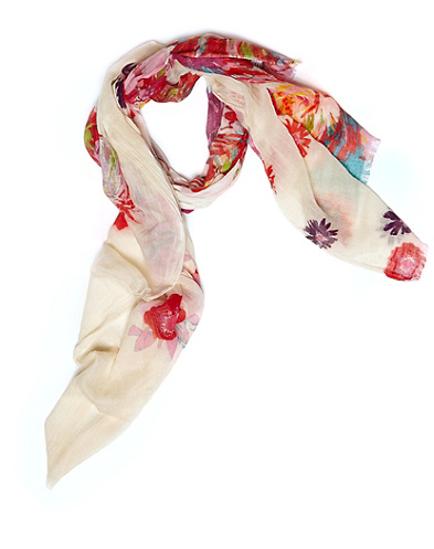 Solar Tossed Printed Floral Scarf*
