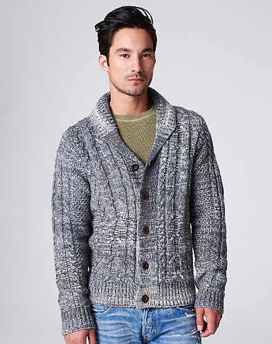 Space Dye Shawl Cardigan