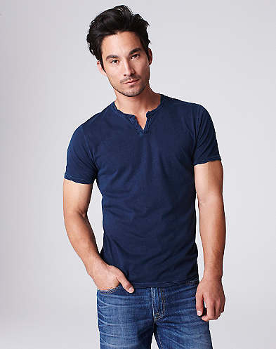 Split V-Neck T-Shirt