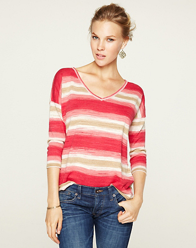 Stacey Space Dye Striped Sweater*