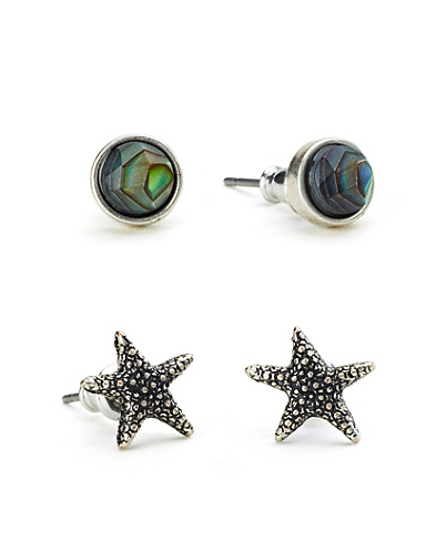 Starfish Stud Earring Set