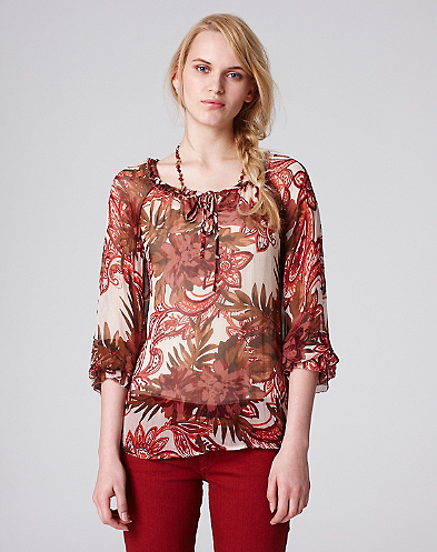 Stevie Paisley Peony Top*