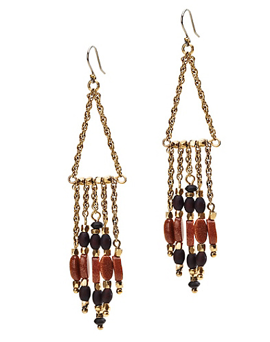Stone Tassel Chandelier Earrings*