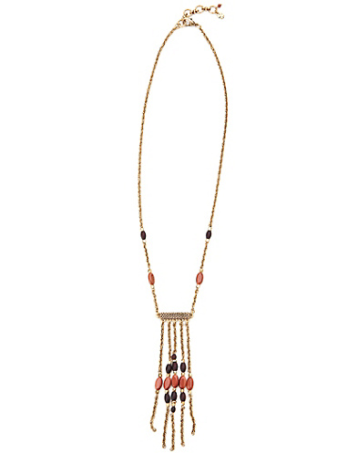 Stone Tassel Necklace*