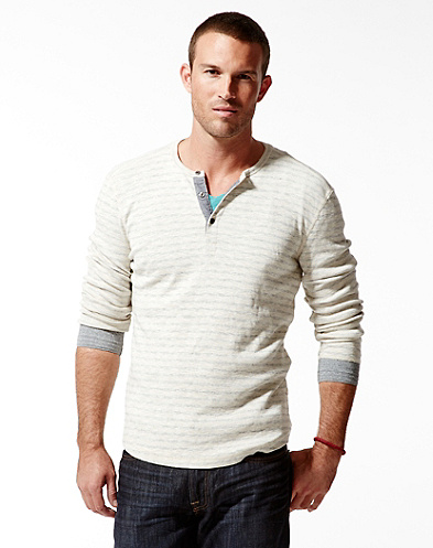 Stripe Twisted Henley