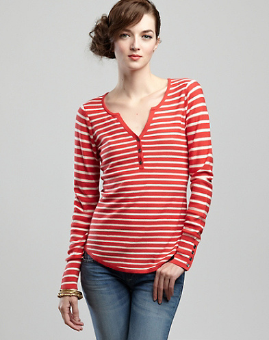 Striped Henley Sweater*
