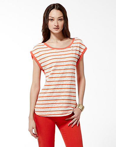 Striped Lace Convertible T-Shirt