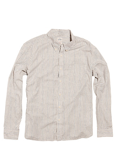 Striped One-Pocket Shirt*