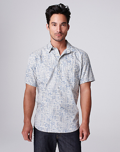 Summer Swell Print Popover Shirt*