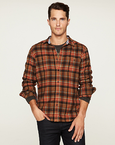 Sunset Plaid Two-Pocket Shirt*