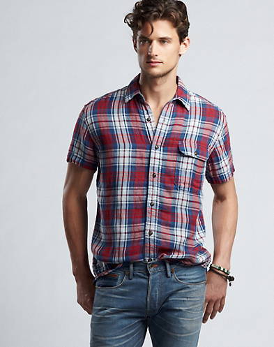 Surf One-Pocket Plaid Shirt*