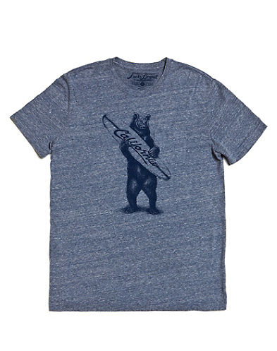 Surfer Bear One-Pocket T-Shirt