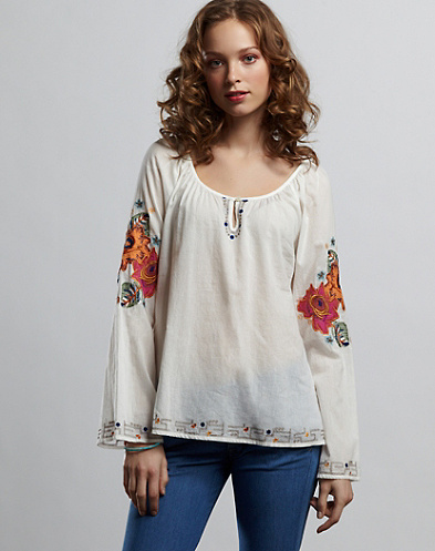 Sylvie Embroidered Top*