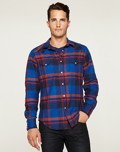 Taft Plaid Western Shirt*