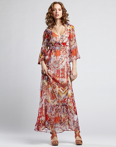 Tali Printed Maxi Dress*
