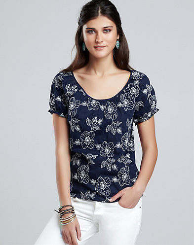 Taylor Embroidered Floral Top*