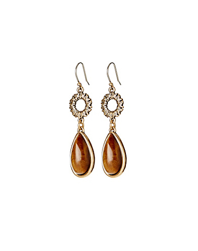 Tigers Eye Drop Earrings*