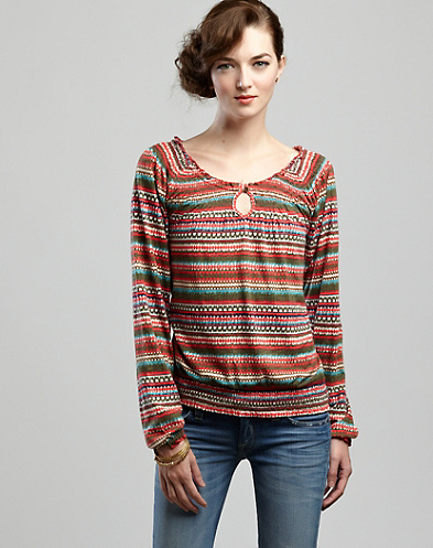 Tribal Striped Mena Top*
