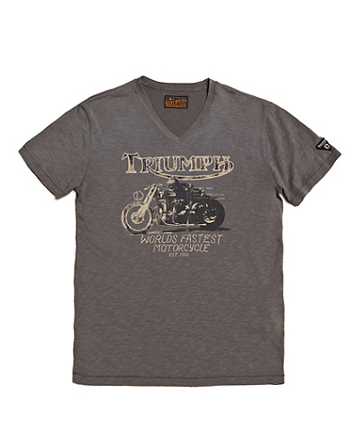 Triumph World's Fastest Motorcycle V-Neck T-Shirt*