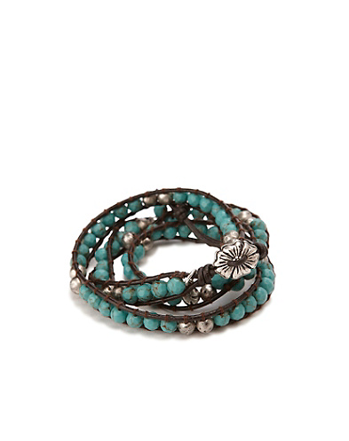 Turquioise Beaded Wrap Bracelet