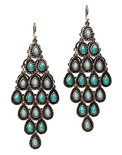 Turquiose Chandelier Earrings