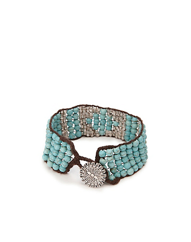 Turquiose Multi Beaded Cuff*