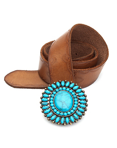 Turquoise Buckle Belt