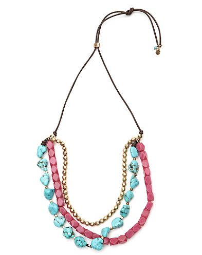 Turquoise Multi-Beaded Necklace