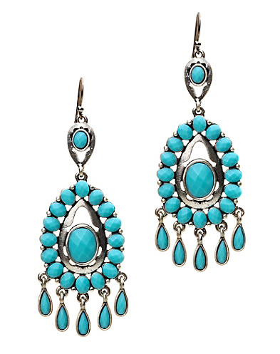 Turquoise Multi Chandelier Earring