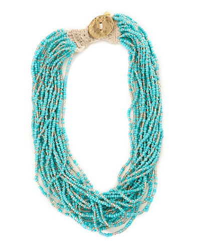 Turquoise Seed Bead Necklace*