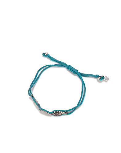 Turquoise Silver Slide Knot Bracelet*