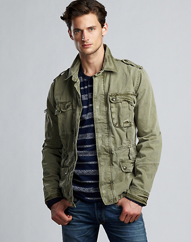 Twill Aviator Jacket