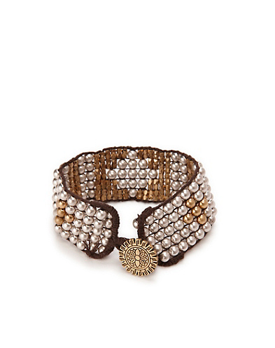 Two-Tone Beaded Cuff*