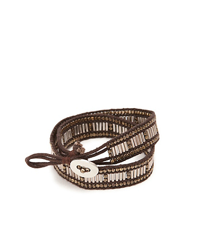 Two Tone Double Wrap Bracelet