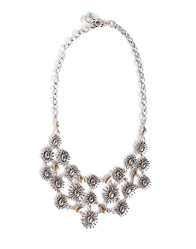 Two-Tone Floral Collar Necklace*