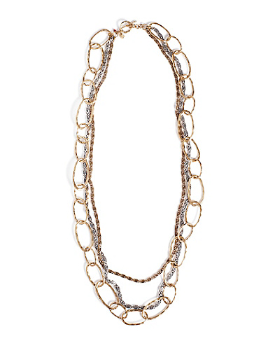 Two-Tone Metal Chain Necklace*