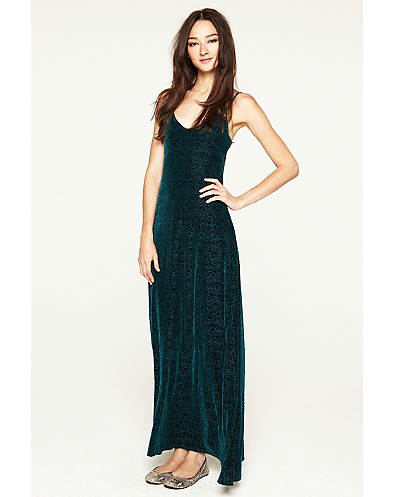 Velvet Maxi Dress*