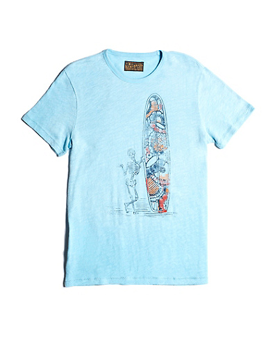 Vintage Slub Surfin Skeleton T-shirt
