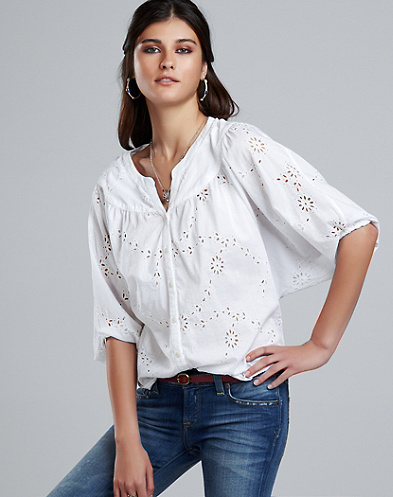 Vivian Eyelet Blouse*
