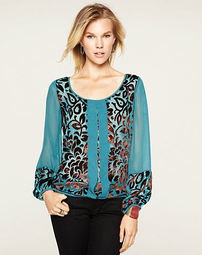Wanderlust Velvet Burnout Top*