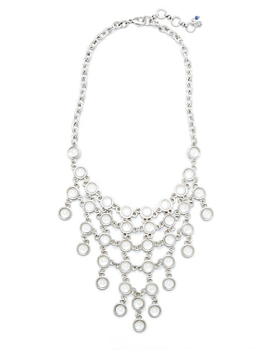 White Mother-Of-Pearl Bib Necklace