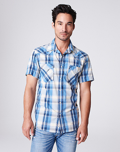 White Sands Plaid Western Shirt*