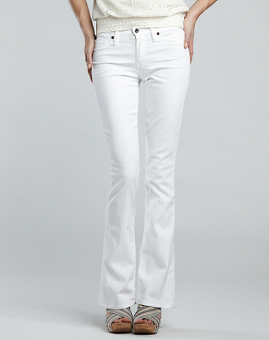 White Sofia Boot Jeans*