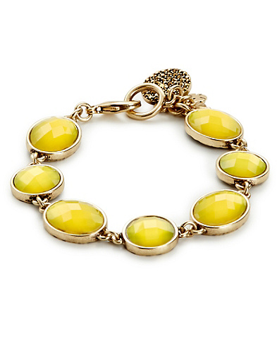 Yellow Set Stone Bracelet