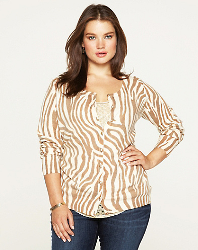 Zebra Print Cardigan