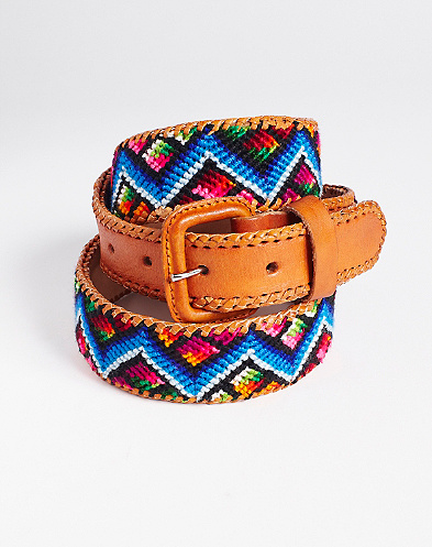 Zig Zag Blue Multi Printed Belt*