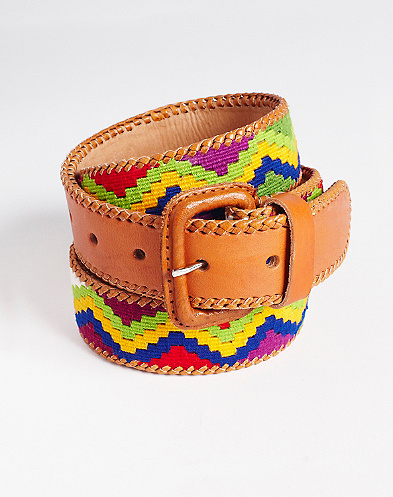 Zig Zag Multi Printed Belt*