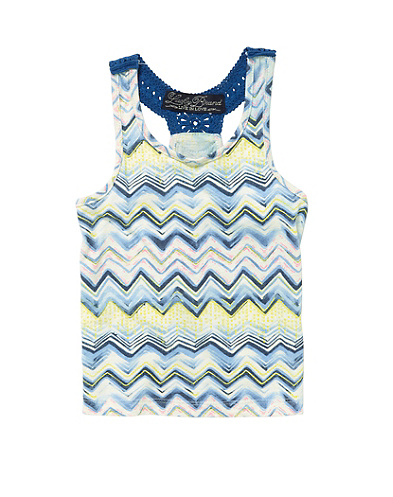 Zig Zag Printed Knit Tank Top